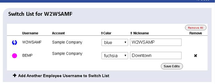 switch list window