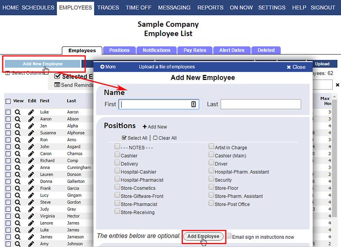 add employees
