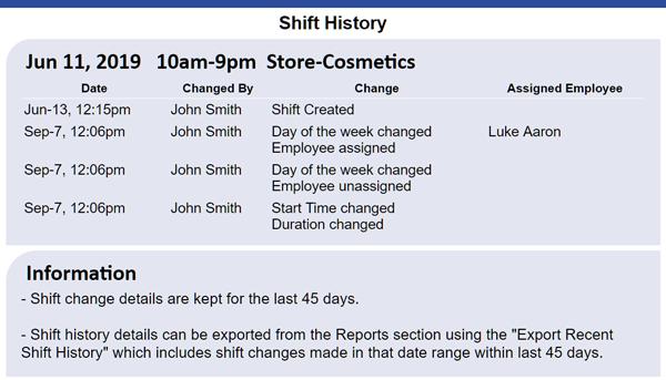 shift history window