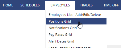 employees - position grid