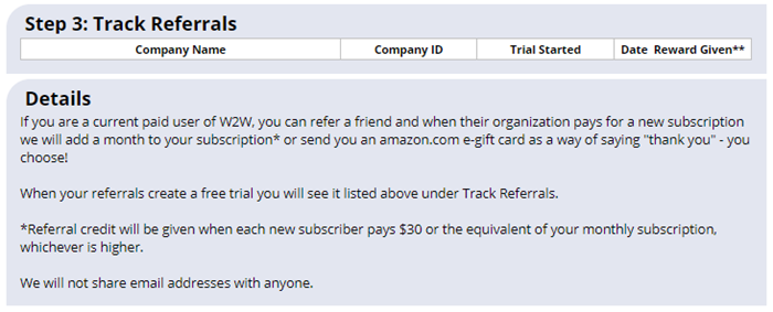 refer a friend track trials
